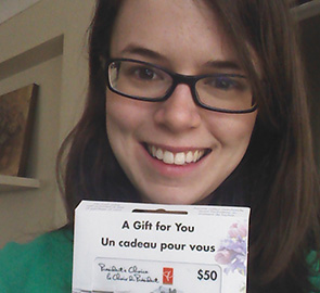 Clipdeals contest winner - Emily Bray