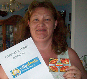 Clipdeals Contest Winner - Connie Naylor