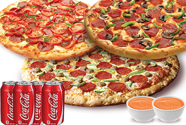 Foodzito Pizza and Grill - 3 Pizza Deal