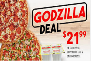 - 2xl pizzas at $21.99 only