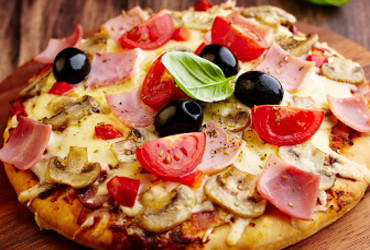 - GREAT DEAL 2 MED.PIZZAS