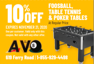 - 10% OFF FOOSBALL,TABLE TENNIS&MORE