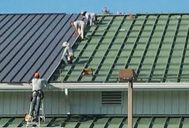 - metal roof instalation at year off