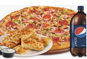 - Large Pizza & 2lr Pop at $24.95 off